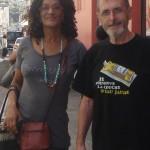 Emma et Bernard Larroque à Fort-de-France