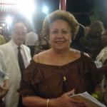 Gislaine Miolard à la sortie du concert de l'Artchipel