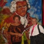 Gislaine Miolard et Luigi Greco, chef de choeur et d'orchestre