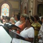 Les Baladins enn répétition à la Cathédrale de Fort-de-france
