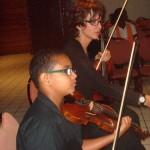 Martine Charlemagne et son fils Christian violonistes