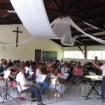 Répétition choeur et orchestre à Capesterre Belle-Eau